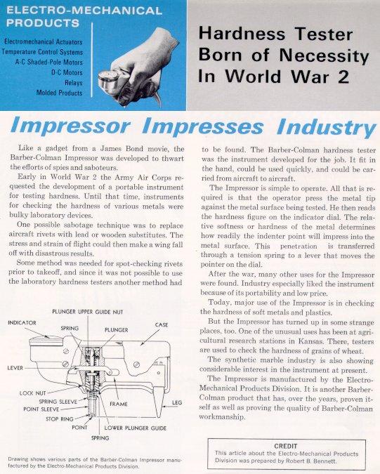 Barcol Impressor during World War 2